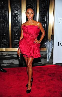 Jada Pinkett-smith Wearing A Marchesa Poster by Everett
