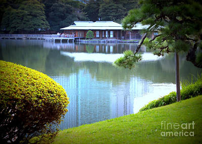 Japanese Tea House Reflection Poster by Carol Groenen