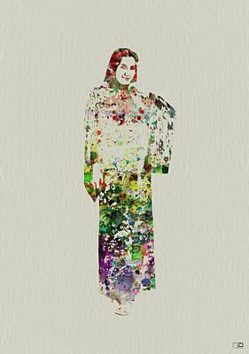 Japanese Woman Dancing Poster by Naxart Studio