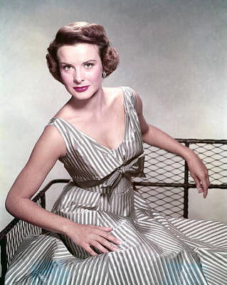 Jean Peters, In The Film, A Man Called Poster by Everett
