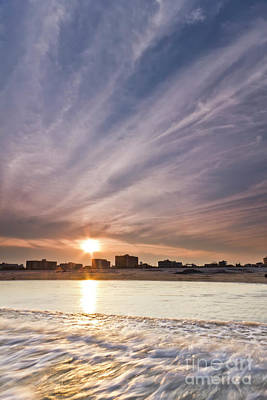 Jersey Shore Wildwood Crest Sunset Poster by Dustin K Ryan