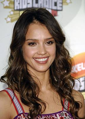 Jessica Alba At Arrivals For 2007 Poster by Everett