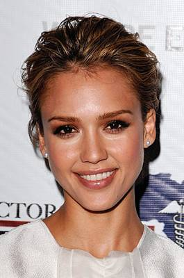 Jessica Alba At Arrivals For African Poster by Everett