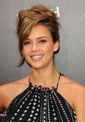 Jessica Alba At Arrivals For World Poster by Everett