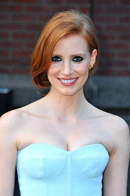 Jessica Chastain At Arrivals For The Poster by Everett