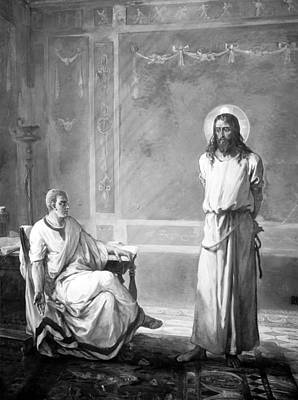 Jesus Christ, Title Jesus Christ Tried Poster by Everett