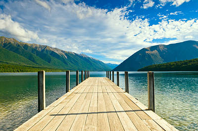 Jetty Of A Beautiful Lake  Poster by Ulrich Schade