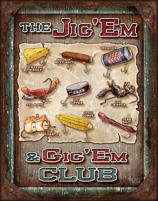 Jig' Em Gig' Em Poster by JQ Licensing