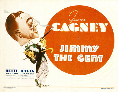Jimmy The Gent, James Cagney, 1934 Poster by Everett