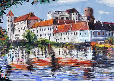 Jindrichuv Hradec City Poster by Ondrej Soukup