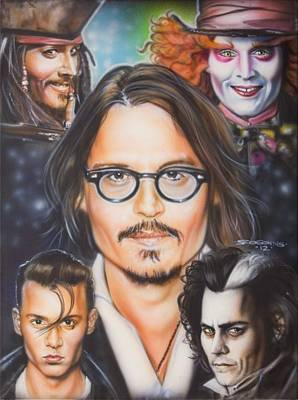 Johhny Depp Poster by Tim  Scoggins
