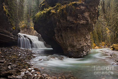Johnston Creek Waterfall Poster by Keith Kapple
