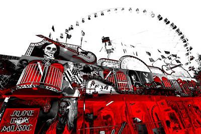 Juke Box Music-a Day At The Fair Poster by Douglas Barnard