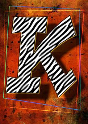 K Poster by Mauro Celotti