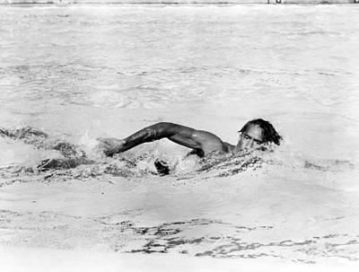 Kahanamoku, Aka Duke Kahanamoku, Swims Poster by Everett