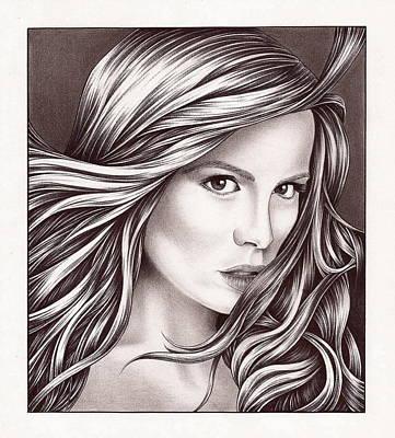 Kate Beckinsale Poster by Jamie Warkentin