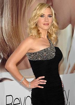 Kate Winslet Wearing A Balmain Dress Poster by Everett