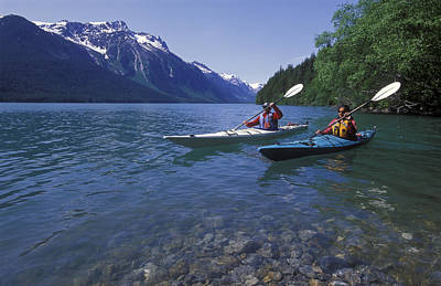 Kayaking On Chilkoot Lake Poster by Rich Reid
