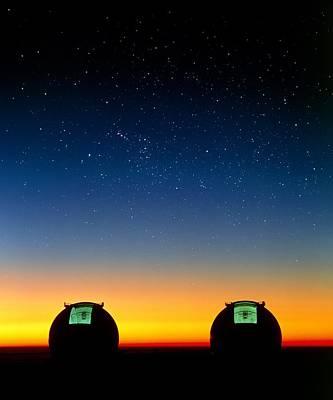 Keck I And II Telescopes On Mauna Kea, Hawaii Poster by David Nunuk