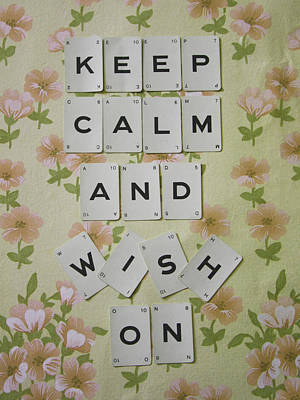 Keep Calm And Wish On Poster by Georgia Fowler