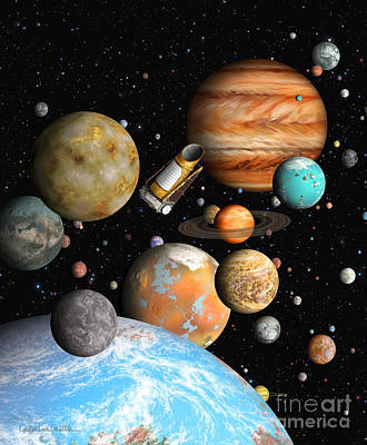 Kepler's Worlds Poster by Lynette Cook