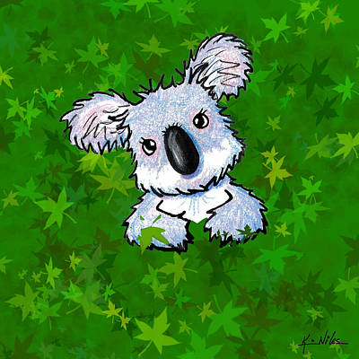 Kiniart Koala Poster by Kim Niles