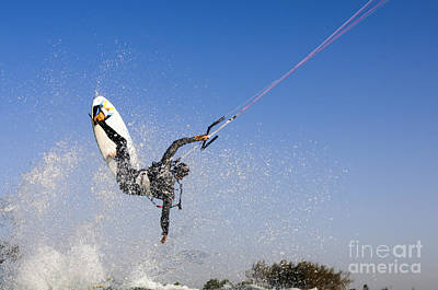 Kitesurfing Poster by Hagai Nativ