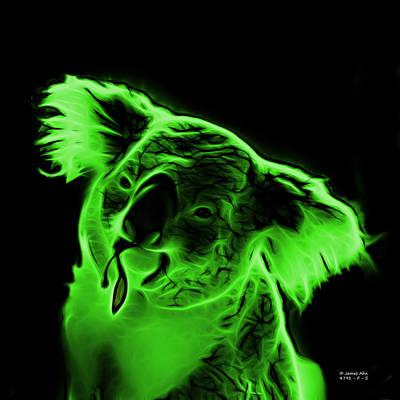 Koala Pop Art - Green Poster by James Ahn