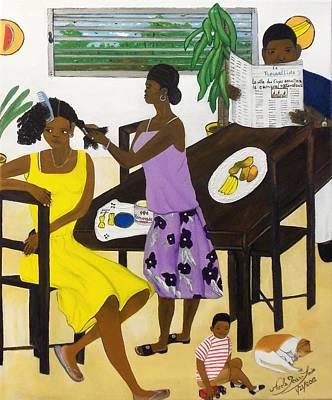 La Famille Poster by Nicole Jean-Louis