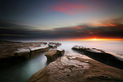 La Jolla Reef Sunset 7 Poster by Larry Marshall