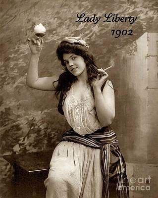 Lady Liberty 1902 Poster by Padre Art