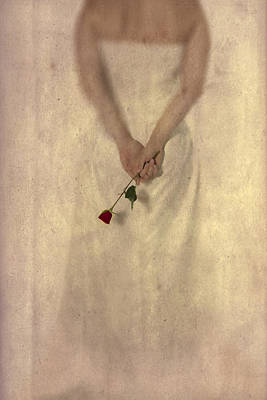 Lady With A Rose Poster by Joana Kruse