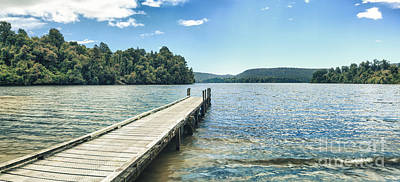 Lake Mapourika Panorama Poster by MotHaiBaPhoto Prints