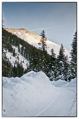 Last Glance At The Mountain Poster by Lisa  Spencer