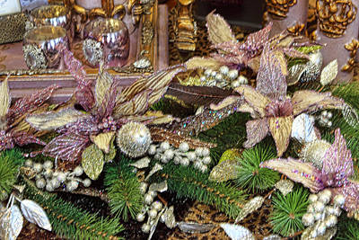 Lavender Christmas Poster by Linda Phelps