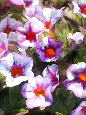 Lavender Million Bells Flowers Poster by Elaine Plesser