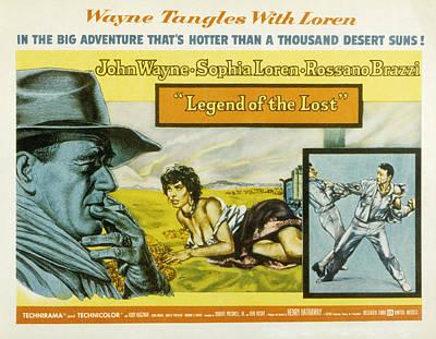Legend Of The Lost, John Wayne, Sophia Poster by Everett