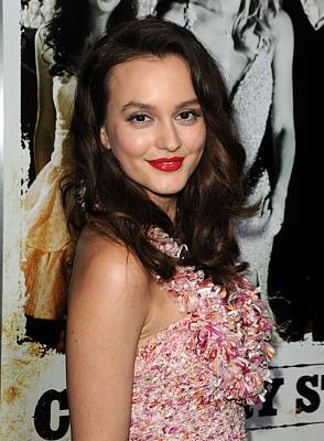 Leighton Meester Wearing A Christian Poster by Everett