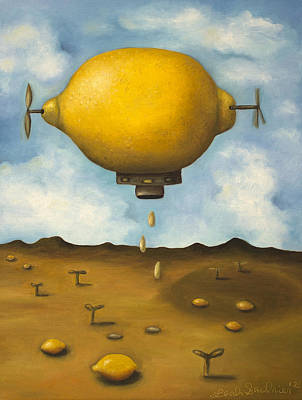 Lemon Drops Poster by Leah Saulnier The Painting Maniac
