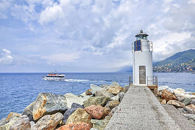 Lighthouse Camogli Poster by Joana Kruse