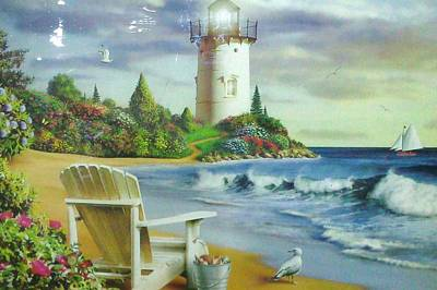 Lighthouse View Poster by Unique Consignment