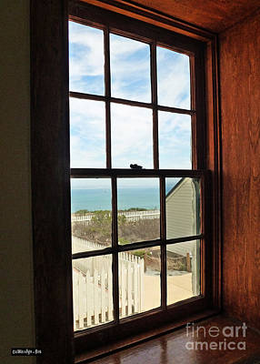 Lighthouse Window Poster by Methune Hively