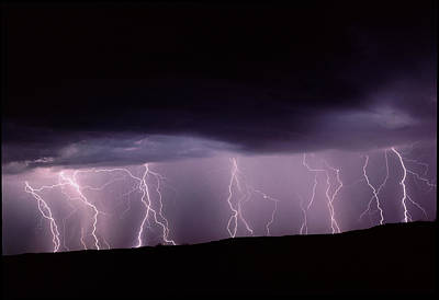 Lightning In New Mexico, Usa Poster by Keith Kent