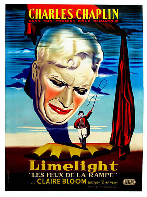 Limelight Aka Limelight Les Feux De La Poster by Everett