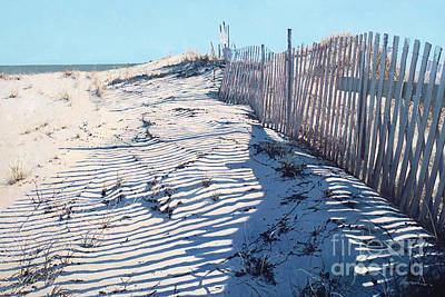 Lines In The Sand Poster by Gary Gowans