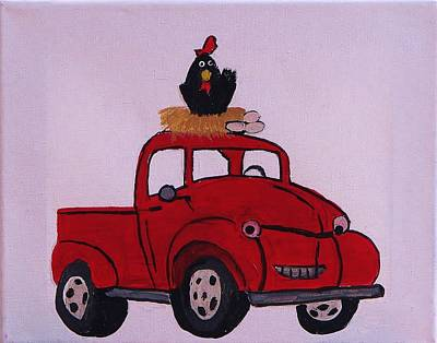 Little Red Coop Poster by Linda Brown