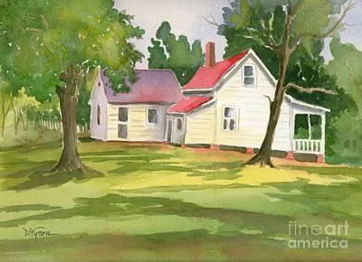Little White Farmhouse Poster by Diana  Tyson
