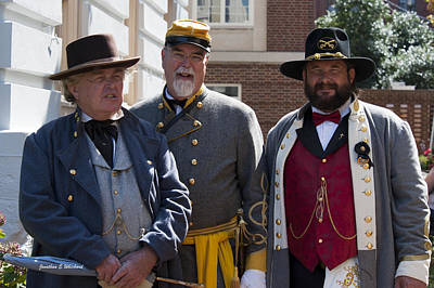 Living History C.s.a.150th Anniversary Of The Civil War Warrenton Virginia Poster by Jonathan Whichard