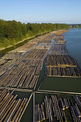 Log Booms, Vancouver, Canada Poster by David Nunuk