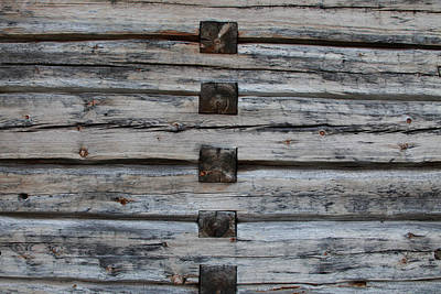 Log House Texture Poster by Ulrich Kunst And Bettina Scheidulin